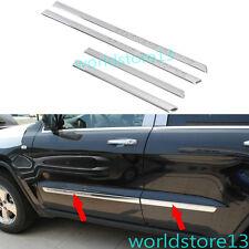 ABS Chrome Body Door Side Molding Trim Garnish For Jeep Grand Cherokee 2011-2013