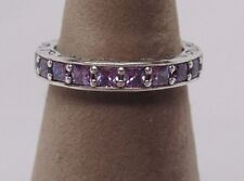 New w/Box Pandora Infinity Fancy Purple CZ Stackable Ring 190894CFP SIZES AVAIL