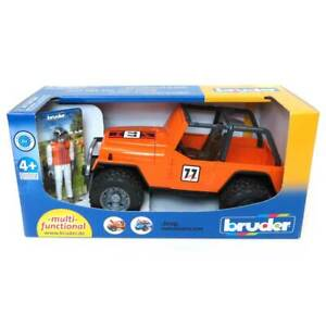 1/16 Jeep Orange Cross Country Racer W/ Driver By Bruder 2542