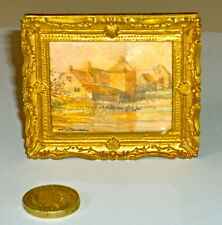 1/12th scale Picture- Gilt Framed Hand Painted Watercolour by Mandy Dawkins