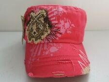 Cowgirl Baseball Cap Hot Pink Distressed Rhinestones, Leader Brand with tags NEW