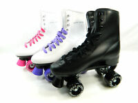 Used Roller Derby Durable Skate Youth Men Women Size Black White Purple Pink