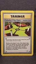 Pokemon Card Celadon City Gym 107/132 Gym Heroes Uncommon Light Play