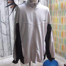 Nike retrò track top giacca bianco W Blu Navy Cerniera Da Uomo Taglia XXL 2XL
