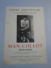 AFFICHE MAN COLLOT PEINTURE GALERIE SAINT-PLACIDE- LITHOGRAPHIE-44x63 cm