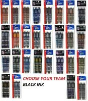 NFL Official Licensed Click Pens 5 pack Black Ink Choose Your Team