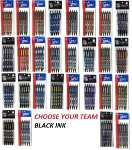 NFL Official Licensed Click Pens 5 pack Black Ink Choose Your Team