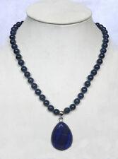 AAA 10mm Natural Egyptian Lapis Lazuli Gemstone pendant Necklace 18'' AAA