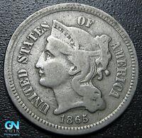 1865 3 Cent Nickel Piece  --  MAKE US AN OFFER!  #R9921