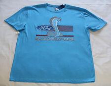 Ford Cobra Logo Mens Blue Printed Short Sleeve T Shirt Size M New