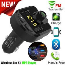 LCD Bluetooth para Coche Transmisor de Fm Inalámbrico Radio Adaptador