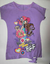 Faded Glory Girls Purple Tunic WITH MY BFF Top Shirt Size 7/8 NWT