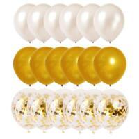 Gold White Balloon Confetti Balloons Set Party Decorations Wedding Birthday