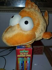 "The Simpsons Huge Plush 8"" Blinky 3 Eyed Fish 2016 Universal Studios Rare"