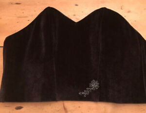 Aubade Star Velvet Bustier Non-Wired No Cups Size 10 Small