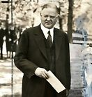 Hand-Touched Original Gelatin Silver Photograph Harris & Ewing Herbert Hoover