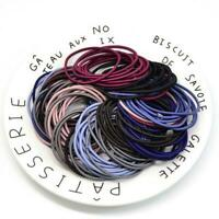 100PCS Hair Tie Rubber Band Thick Hair Rings Charm Elastics Ponytail Holder