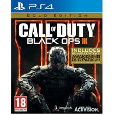 Call Of Duty Black Ops 3 PS4 / COD III Gold Edition PS4 NEW SEALED