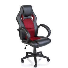 Racing Chefsessel Stuhl Bürostuhl Drehstuhl Schalensitz Sportsitz Büro rot