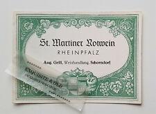 St. Martiner Rotwein August Grill Weinhandlung Schorndorf Weinetikett Ephemera