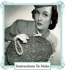 How to make a vintage 1940s wartime chic,stylish handbag-Crochet Pattern