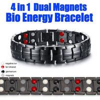4in1 Pro Power Magnet Herren Edelstahl Armband Energy Powerarmband Bio Arthritis