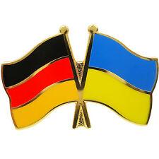 Freundschaftspin Deutschland - Ukraine Anstecker Anstecknadel Fahne Doppelpin