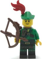 LEGO NEW ROBIN HOOD MINIFIGURE OUTLAW HERO MINIFIGURE WITH BOW AND ARROWS