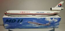 FLIGHT MINATURE CHINA EASTERN AIRLINES MD-11 1:200 SCALE PLASTIC SNAPFIT MODEL