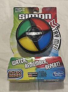 Simon Electronic Game Micro Series New Hasbro Gaming B0640 Watch Remember Repeat