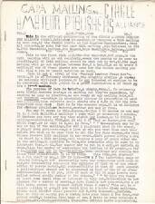 CAPA MAILING CIRCLE AMATEUR PUBLISHERS ALLIANCE - 1943 science fiction fanzine