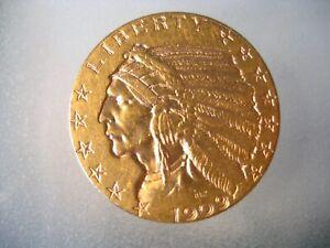 1909-D $5 Indian Half Eagle U.S. Gold Five Dollar Coin