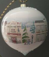 Hallmark Ceramic Glass Ball Christmas on Main Street Christmas Ornament 2008