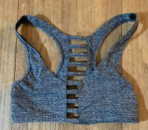 Pink Victoria Secret Ultimate Unlined Sports Bra Small Gray