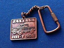 ZASTAVA 101 -T poli Kragujevac, Serbia ex Yugoslavia auto car -vintage keychains