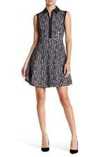 Betsey Johnson Lace Shirt Dress Black / Ivory Size 14
