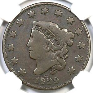 1829 N-9 R-4 NGC VG 8 Med Lett Matron or Coronet Head Large Cent Coin 1c