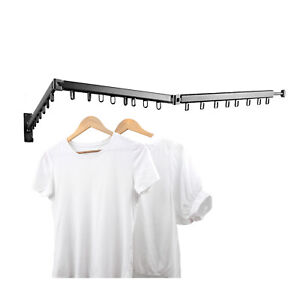 Clothes Drying Rack Space Saver Hangers Collapsible Retractable Wall Mounted