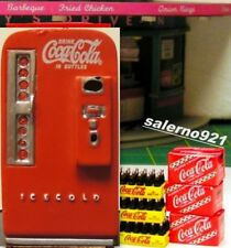 COCA-COLA VENDING MACHINE with SODA CASES MINIATURE 1:24 (G) SCALE DIORAMA