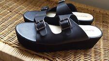 Women Size 9 Black Comfort Slip On Sandals Size 9 Ortho Clogs Pierre Dumas NEW