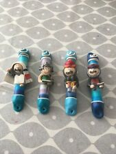 More details for set of 4 funny character mezuzah cases. for 3 to 3.5 inch long mezuzas.