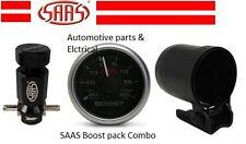 Turbo Boost Combo - Adjustable boost Controller + Boost Gauge + Gauge Cup SAAS