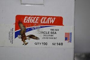 Eagle Claw Circle Sea  Live and Chunk Bait Hooks 100 ct 14/0