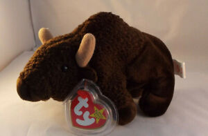 TY BEANIE BABY Roam The Buffalo  born 1998 -  MINT - RETIRED