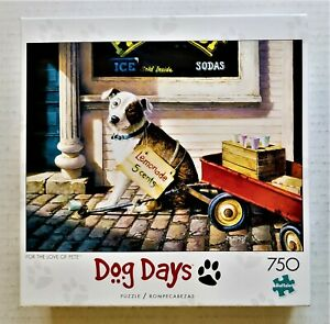Buffalo Dog Days For Love Of Pete 750 Piece Puzzle Opened Complete