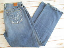 LUCKY BRAND Size 8/29 Classic Rider Factory Distressed Pockets Jeans #516B