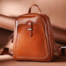 New Fashion Women's Real Genuine Cow Leather Backpack Bags Vintage Messager BAgs