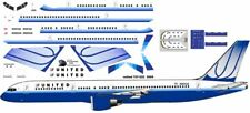 United old colors livery Boeing 757-200 Pointerdog7 decals for Minicraft kit