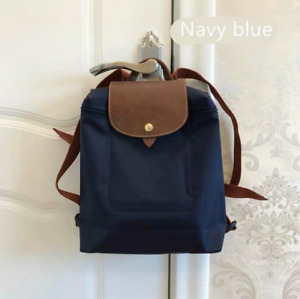 NEW Adjustable Straps Longchamp Le Pliage 1699 Nylon Backpack Bag Size L Navy