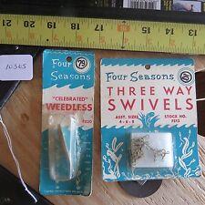 New listing Vintage Four Season fishing lure & fishing lure swivels (lot#10365)